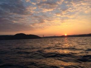 釣りに行った時の朝日